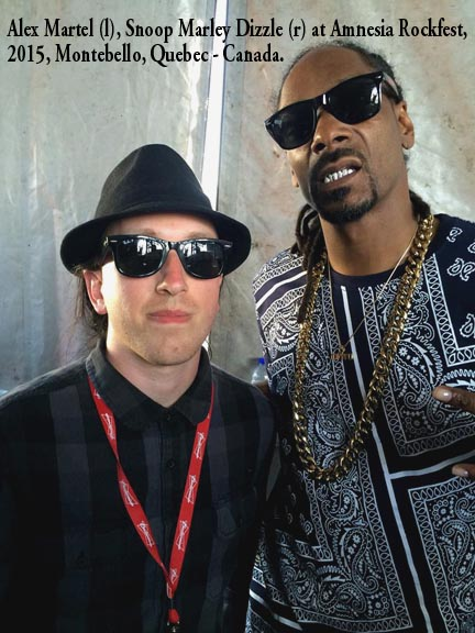 Alex Martel and Snoop Marley Dizzle at Amnesia Rockfest, 2015, Montebello, Quebec - Canada.