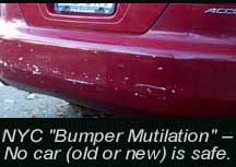 Car Bumper Mutilation in New York City