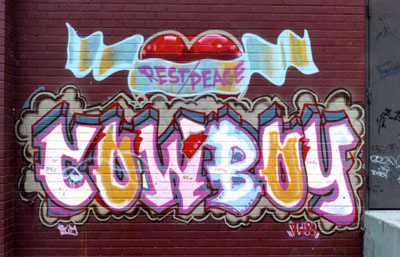 Bronx River Center. R.I.P Cowboy Graffiti. Piece Was Done In Memory Of