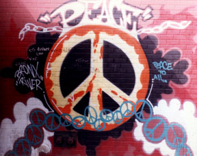 Bronx River Center, South Bronx Graff. UNIVERSAL PEACE & LUV!