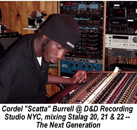 Scatta Burrell mixing Stalag 20, 21 & 22 - Next Generation at D&D Recording Studio, Mid-town Manhattan in 2000
