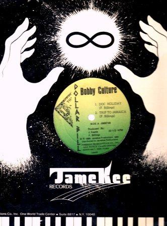 Bobby Culture's 'Trip To Jamaica' Jamekee/Dollar Bill release in original jacket.