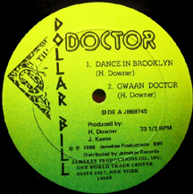 DOCTOR: Dance In Brooklyn vinyl release on Dollar Bill/Jamekee/D.I.A label.
