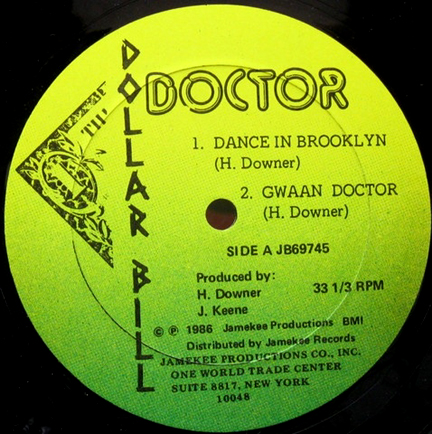 Classic D.I.A/JameKee/Dollar Bill label 12 inch vinyl: Dance In Brooklyn by Doctor being sold for USA$125.