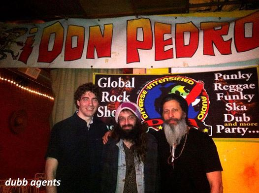 Dubb Agents crew stopped for a pic during breaking down gear at Don Pedro's Global Rock Showcase gig with Top Cat (NYC) and Jamalski February 20, 2016.  BigUPs to Dubb Agents (team 2) featuring Steven Repka, Mysta Lu and Hektor bee for backing Jamalski and Top Cat at Bowery Electric, New York City, December 18, 2016. The next gig is Saturday April 2, 2016 at The Spot Underground, 180 Pine Street, Providence, Rhode Island - USA