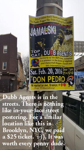 Dubb Agents related NYC - Brooklyn Street postering.