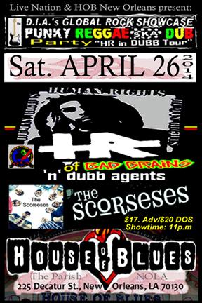 House Of Blues, New Orleans, LA, April 27, 2014