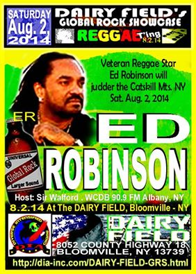 Dairy Field 2014 Summer Events. A-list Star Reggae  Ed Robinson Headlined.