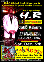 HR (of Bad Brains) & Dubb Agents at Cabaloosa's at 58 Main Street, New Paltz - NY.