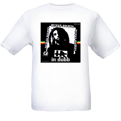 Street RagzHR Human Rights HR IN DUBB White Tee Shirt. FREE SHIPPING.
