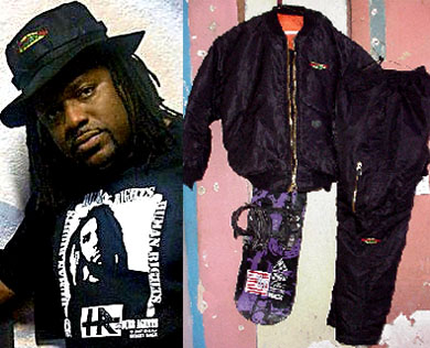 Street Ragz: Jack Ruby Jr.(Toasters) in Hat & HR's Tee (L). Street Ragz Snow Suit.