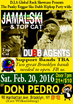 Jamalski and Top Cat backed by Dubb Agents at Don Pedreo, 90 Manhattan Ave., Brooklyn - NY.