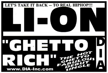 Li-On street poster and flyer snipe: D.I.A Records