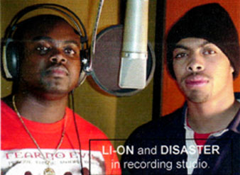Li-On and Disaster in studio for Ghetto Rich track.