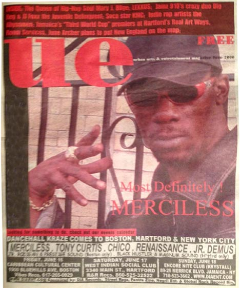 UE June 2000 Merciless cover. Fantra Zine. D.I.A.
