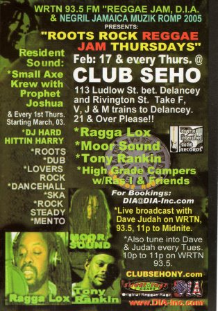 Moor Sound related flyer.