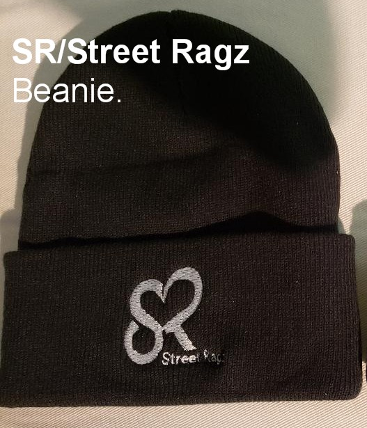 Street Ragz aka SR Garments warm Black Knit Beanie.