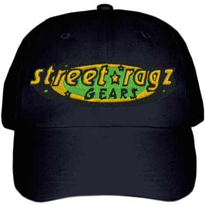 Street Ragz Black, Green & Gold Jamaica - Jamaica Black Cap. FREE SHIPPING.