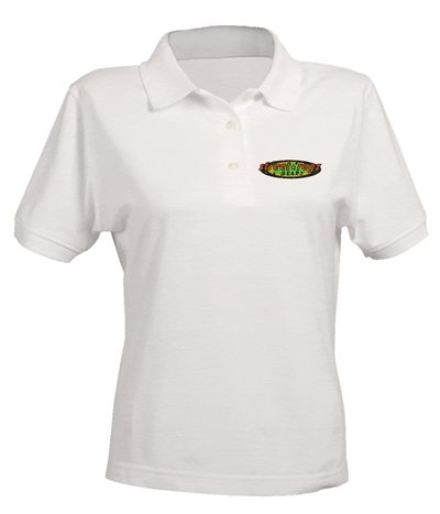 Street Ragz  Green, Yellow & Red Original Logo Polo White Shirt. FREE SHIPPING.