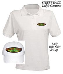 Street Ragz Original Logo Lady white Polo Shirt & Cap
