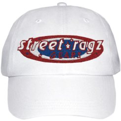 Street Ragz Red, White & Blue Old Glory White Cap. FREE SHIPPING.