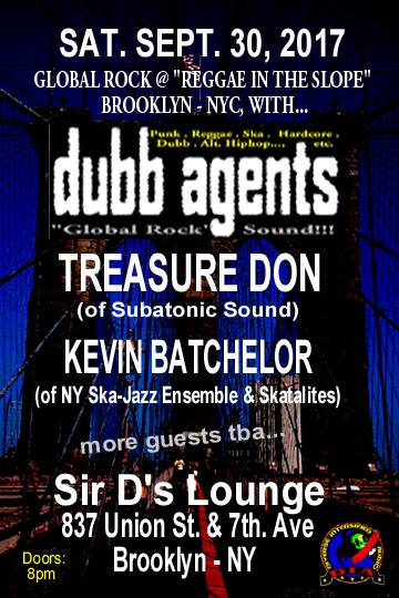 Dubb Agents at Sir Di's Lounge (Reggae In the Slope), 837 Union Street & 7th. Ave., Park Slope - Brooklyn - NYC. D.I.A Production.