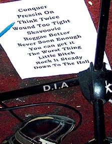 Soul Radics' Setlist.