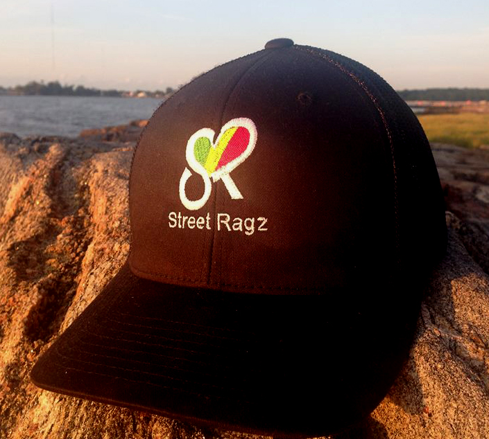 Street Ragz green-yellow-red  Heart Logo Black Cap