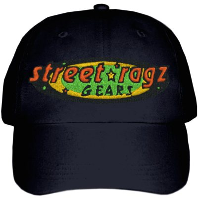 Street Ragz green, yellow & red Original Logo Black Cap. FREE SHIPPING.