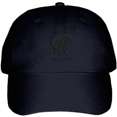 Street Ragz Heart Logo Black on Black on Stealth Cap D.I.A  FREE SHIPPING.