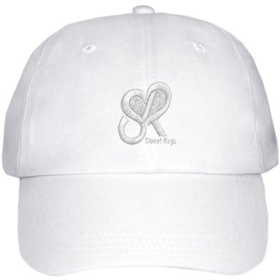 Street Ragz Heart Logo White on White Stealth D.I.A Cap Style. FREE SHIPPING.