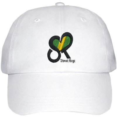 Street Ragz Jamaican, Brazilian, etc., Adjustable White Cap. Free Shipping.