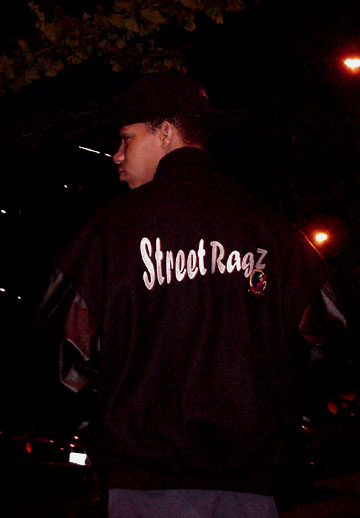Street Ragz Varcity Back with Logo on back.