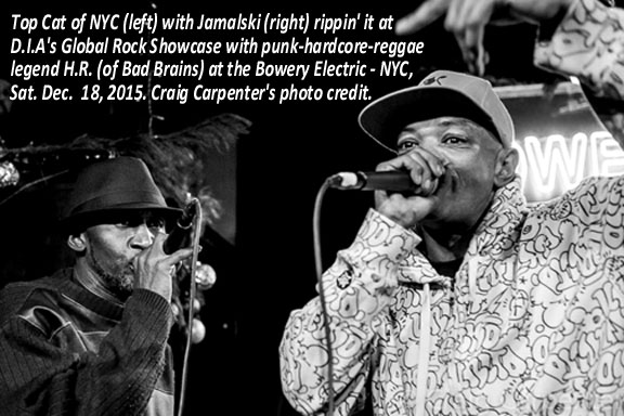 Top Cat (left) and Jamalski (right) live at Global Rock Showcase at Bowery Electric NYC 12.18.15