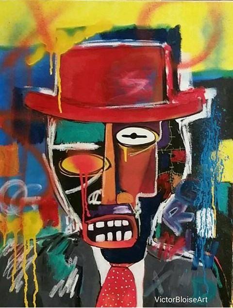 Victor Bloise Art - Channeling Basquiat